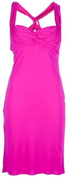 Versace Fitted Dress - Lyst