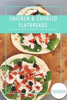 Chicken and chorizo flatbreads, a quick and easy lunch recipe that's ideal for taking to work | Daisies & Pie