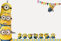 Minions Birthday Invitation Template - 28 Minions Birthday Invitation Template , Minion Birthday Party Invitations 10 Invitations by Fancybelle Minion Birthday Card, Minion Card, 40th Birthday, Birthday Ideas, Birthday Party Invitations Free, Birthday Card Template, Handmade Invitations, Minion Baby Shower, Baby Shower Invitation Templates