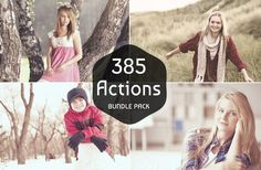 385 Pro Photoshop & PS Elements Actions Bundle by Symufa on Etsy