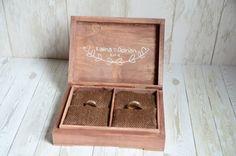 Pudełko na obrączki BOHO LOVE Do kupienia w sklepie internetowym Madame Allure! Ring Bearer Box, Wedding Ring Box, Decorative Boxes, Wedding Inspiration, Ring Boxes, Boho, Frame, Picture Frame, Bohemian