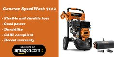 Generac SpeedWash 7122 gas pressure washer with great features and warranty
