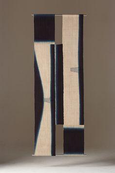'Tsushima 2' - Shihoko Fukumoto W 61 cm x L 221cm Indigo dyed hemp & cotton