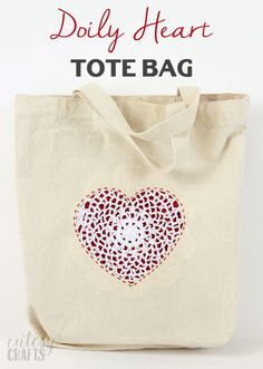 Make this DIY tote bag using scrap fabric and a reverse appliqu technique. This sweet heart is perfect for Valentine's Day or any time of year!