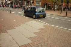 Do you know why this diagonal of paving was installed in Oswestry? :)