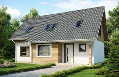 Dom jednorodzinny - Drewniana elewacja zewnętrzna. #projekty #domów