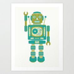 ROBOT THREE Art Print by Needs & Wishes - $18.00