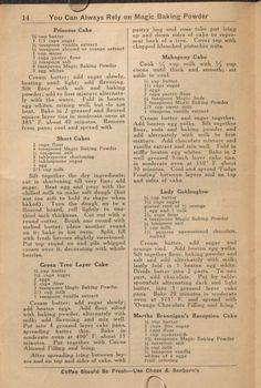 The Magic cook book - old school recipes, Retro Recipes, Old Recipes, Vintage Recipes, Cookbook Recipes, Baking Recipes, Recipies, Potluck Recipes, Cupcake Recipes, Magic Cook