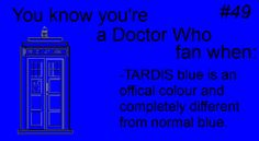 """i was searching for TARDIS blue nail polish, and my dad was helping search and he kept picking up these non tardis blue blues and I was like """"Daddy! TARDIS BLUE... is not just any kind of blue!"""""""