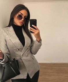 One, two, bhad B step through Wearing AD Business Casual Outfits, Professional Outfits, Casual Winter Outfits, Winter Fashion Outfits, Work Fashion, Business Attire, Boujee Outfits, Classy Outfits, Trendy Outfits