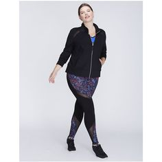 Livi Active Plus Size Wicking Active Jacket with Mesh Insets ($70) ❤ liked on Polyvore featuring activewear, activewear jackets, black, plus size, athletic jackets, plus size activewear, womens plus size activewear and plus size sportswear