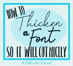 How to Add an Offset to Thicken a Font in Silhouette Studio & Workin' On? How to thicken a font so it will cut nicely. The post How to Add an Offset to Thicken a Font in Silhouette Studio & Workin' On? appeared first on Crafts.