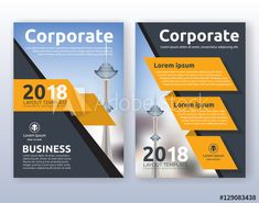 Multipurpose corporate business flyer layout design. Suitable for flyer, brochure, book cover and annual report. Yellow and black color scheme in A4 size layout template background with bleeds. - Acheter ce vecteur libre de droit et découvrir des vecteurs similaires sur Adobe Stock