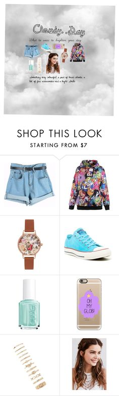 """""""Cloudy day"""" by eleonora199 on Polyvore featuring Chicnova Fashion, Olivia Burton, Converse, Essie, Casetify, Forever 21 and REGALROSE"""