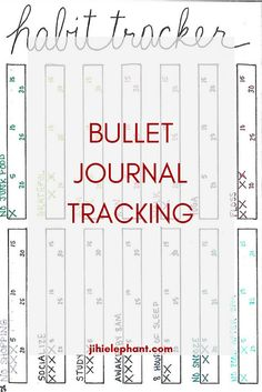 Bullet Journal Tracking Page Layouts
