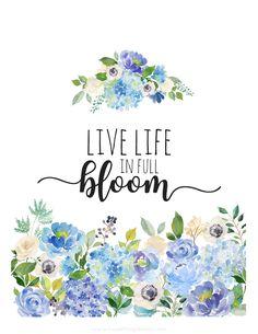 Free spring floral printable