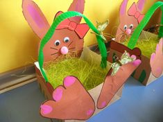 Paasmandje meisjes Diy Gifts For Kids, Diy For Kids, Crafts For Kids, Diy Crafts, Easter Arts And Crafts, Spring Activities, Easter Baskets, Preschool Crafts, Projects For Kids