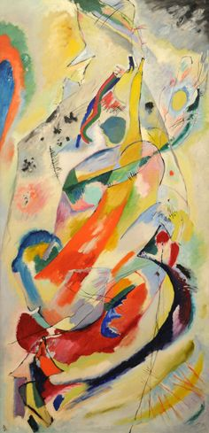 """Vasily Kandinsky: 'Panel for Edwin R. Campbell No. 1' - 1914"""