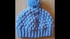 No 121# Damska bąbelkowa czapka na szydełku - Hat for woman crochet, puff stich