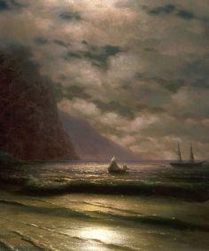 Ivan Aivazovsky - Rocky Seashore (1876)