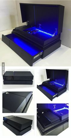 in a styled storage box Shoe Box Storage, Diy Storage, Gamer Room, Nerd Room, House Games, Gaming Room Setup, Video Game Rooms, Design Your Dream House, House Design