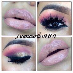 eyes eyeshadow. Maquillaje de ojos, sombra rosa. Maquillaje de dia ♛