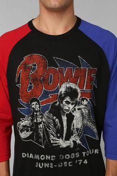 Rad David Bowie raglan tee. #urbanoutfitters