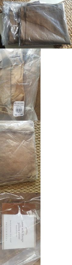 Pillows 20563: Nwt S 2 Pottery Barn Linen Silk Flange Pillow Covers 20 Square Natural -> BUY IT NOW ONLY: $59.99 on eBay!