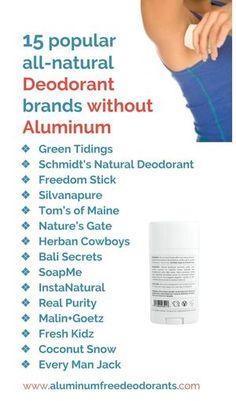 Popular all natural aluminumfree deodorants