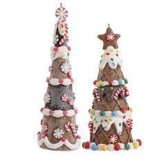 RAZ Gingerbread Candy Tree Christmas Ornament