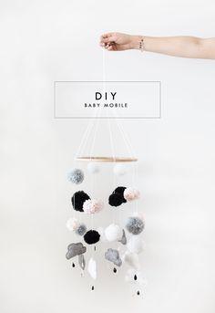 DIY baby mobile | nursery idea | easy crafts
