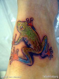 frog tattoo | Tree Frog Tattoos Tattoo Art Artists