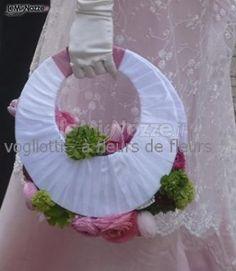 http://www.lemienozze.it/gallerie/foto-bouquet-sposa/img21946.html Bouquet sposa a forma di borsa con fiori bianchi e rosa