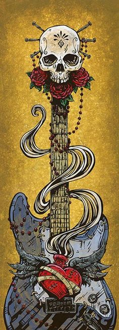 Day Of The Strat by David Lozeau Electric Guitar Canvas Fine Art Print