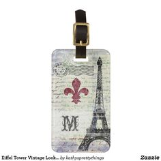 A distressed collage design featuring iconic French images, vintage sheet music, and French handwriting from my personal collection of century vintage correspondence. Customizable on both sides! Personalized Luggage Tags, Custom Luggage Tags, Vintage Luggage, Vintage Sheet Music, Vintage Sheets, French Images, Collage Design, Luggage Straps, Standard Business Card Size