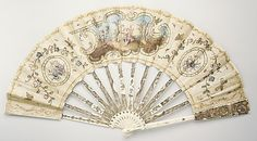 Fan  Date: 18th century Culture: French Medium: linen, ivory