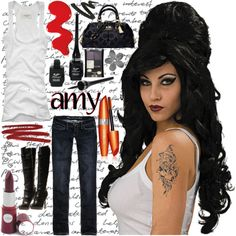 Amy Winehouse - Halloween Costume Contest at Costume-Works.com | Pinterest | Amy winehouse Halloween costume contest and Costume contest  sc 1 st  Pinterest & Amy Winehouse - Halloween Costume Contest at Costume-Works.com ...