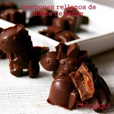 Bombones dinosaurios rellenos de dulce de leche, de vicio!!! chicuqui.com