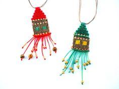 Colorful necklace. Macrame necklace. Necklace by asmina on Etsy