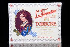 La Florentine Torrone, Soft Almond Honey Nougat Candy, 18 Assorted Pieces