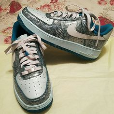buy online c4544 7cb1f Nike Shoes   Super Rare Nike Air Force Ones 24th Anniversary   Color  Blue  Green   Size  8