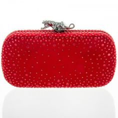 #bansriaccessories #handbags #pretty #dazzling #red #glamorous #color #love #panther #clutch
