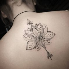 Intricate lotus flower