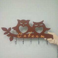 """Купить Ключница """"Совы"""" - ключи, дерево, изделия из дерева, ключница, декор для интерьера, Декор, прихожая"""