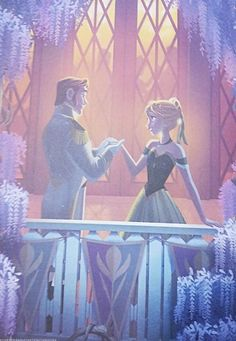 Sneak peak from Frozen Disney Classics book part Moonlit balcony. Hans and Anna are so perfect like everything else in Frozen aghh Hans Frozen, Frozen And Tangled, Frozen Disney, Frozen Heart, Frozen Book, Walt Disney, Disney Magic, Disney Art, Disney And Dreamworks