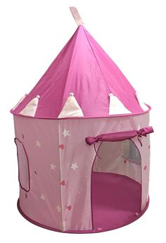 Suesport S Pink Princess Castle Play Tent Children For Glow In The Dark Stars
