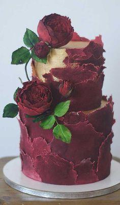 cake for men unique & cake for men . cake for mens birthday . cake for men funny . cake for mens birthday my husband . cake for men unique . cake for men elegant . cake for mens birthday boyfriends . cake for men ideas Unique Wedding Cakes, Unique Cakes, Elegant Cakes, Creative Cakes, Cake Wedding, Red Wedding, Red Velvet Wedding Cake, Burgundy Wedding Cake, Unique Birthday Cakes