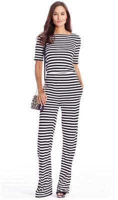 Diane Von Furstenberg DVF Kendra Stripe Jumpsuit Women's Sz 6* NWT*  | eBay