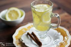 I work for a holistic doctor and she is always telling me and patients to make a hot lemonade when you get sick! ~ This recipes nails it..... with a splash of vodka if you want, though that's not quite in the doctor's orders.