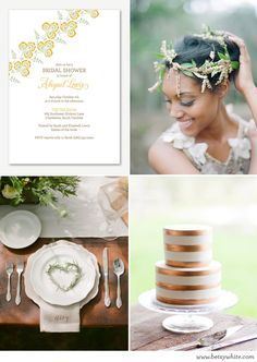 Inspiration: A Naturally Neutral Bridal Shower | featuring our 'Cornflowers' invitation
